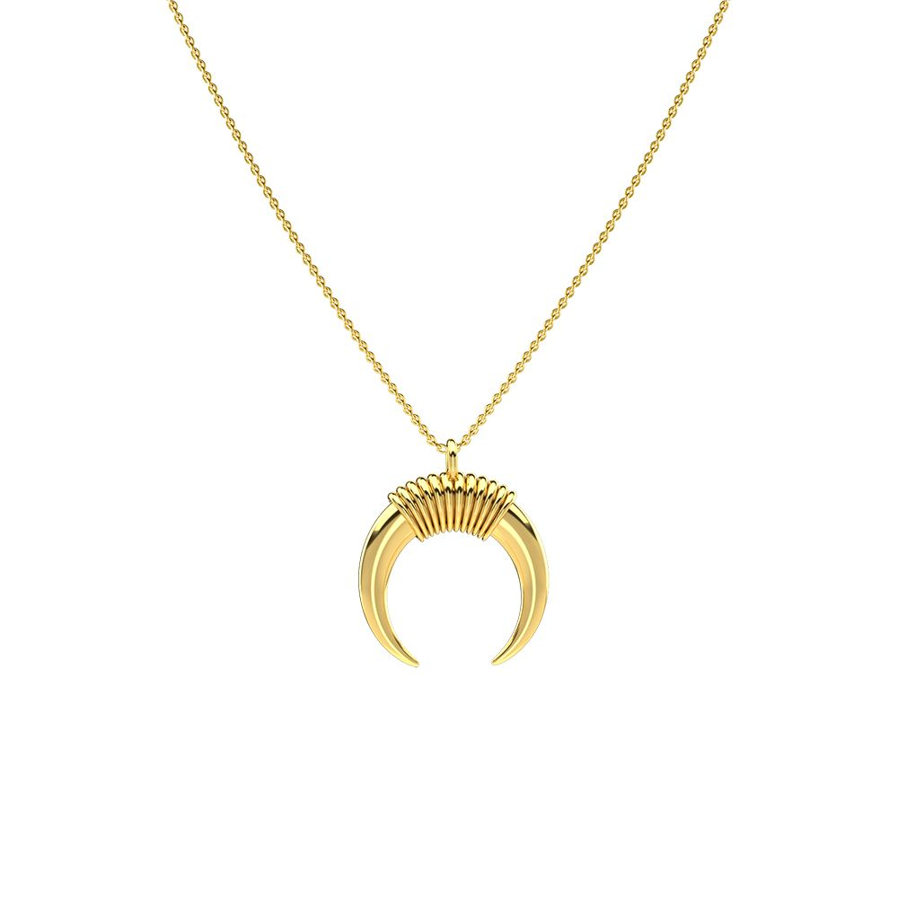 6454b20807fe58 Small Gold Horn Necklace by Collage Vintage & Maria Pascual Beautiful and  neat wire wrap set on a small gold horn. Perfect for a double layer  Mix&match with ...