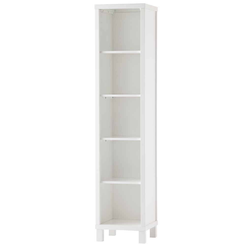 5 Cube Tall Bookcase White