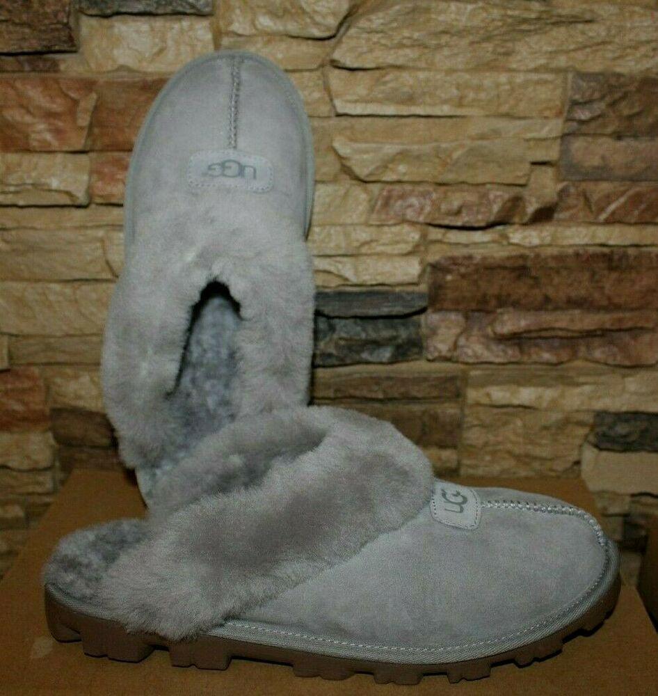 4a120f9b950 eBay Advertisement) NIB UGG Coquette Slide Suede Shearling Slippers ...