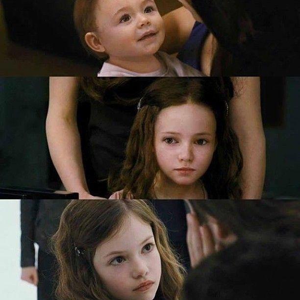 还记得《暮光之城》爱德华和贝拉半人半吸血鬼的女儿吗?如今长大了的她美成这样!