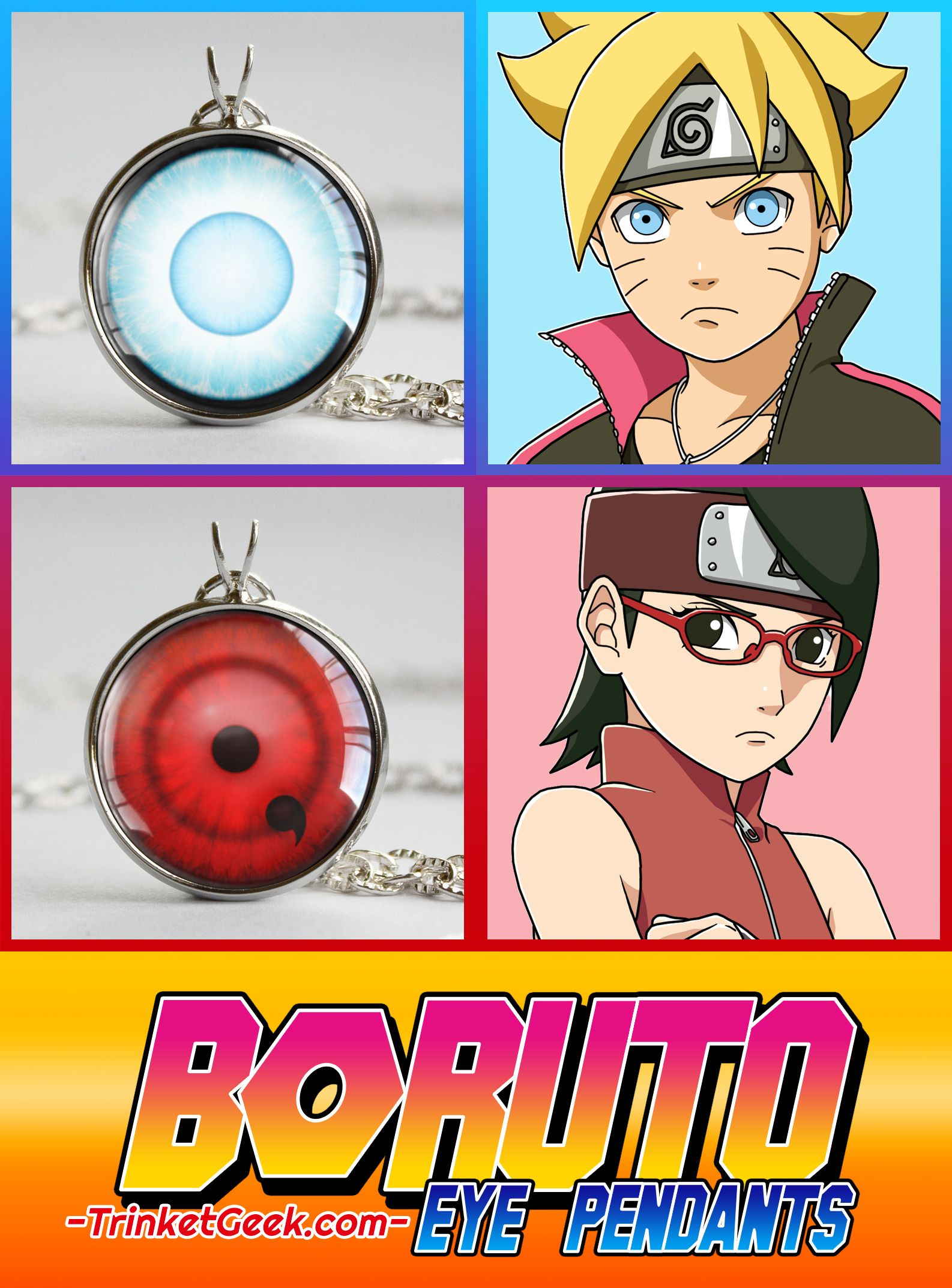 Boruto Kekkei Genkai Naruto pendant | Anime Trinkets | Naruto
