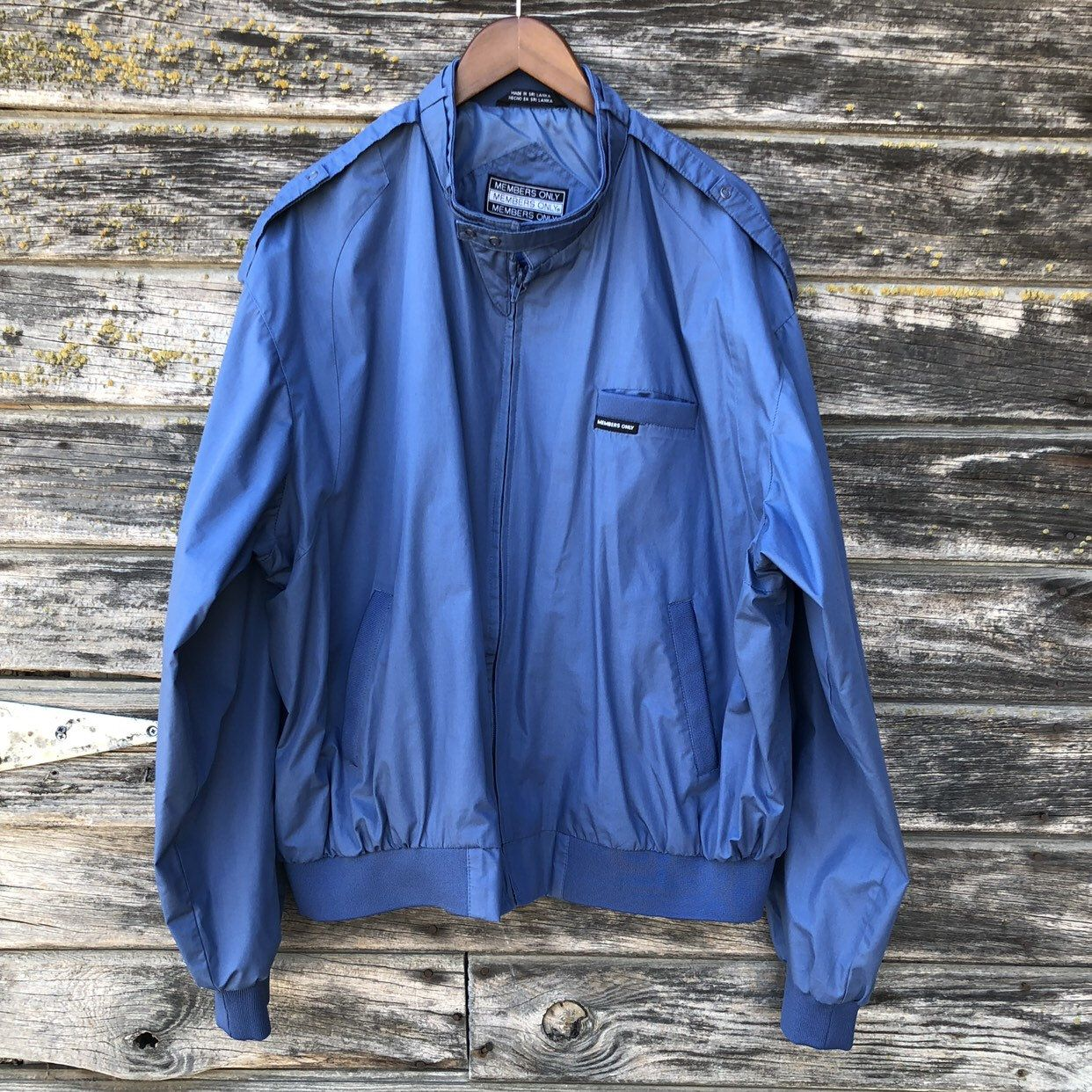 Vintage Members Only Jacket Xxl Oversized Blue 80s Windbreaker 1980s