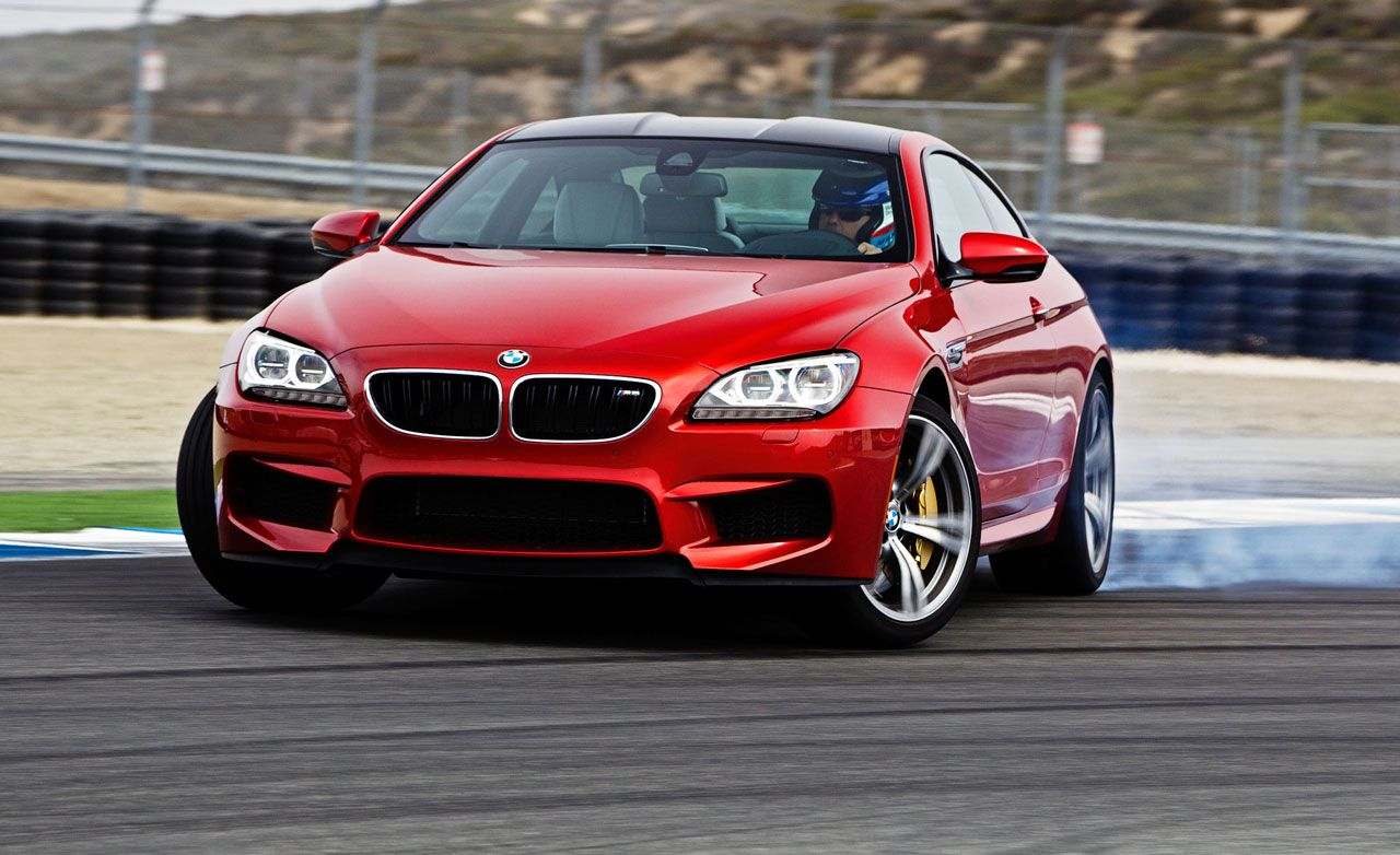 Red bmw m4 drifting