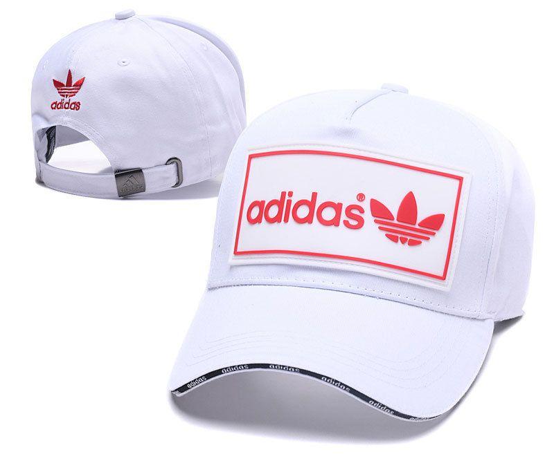 ffc70e89e0e Men s   Women s Adidas Originals Squared Logo Rubber Patch Stitched Curved  Dad Cap - White (Copy Ori)