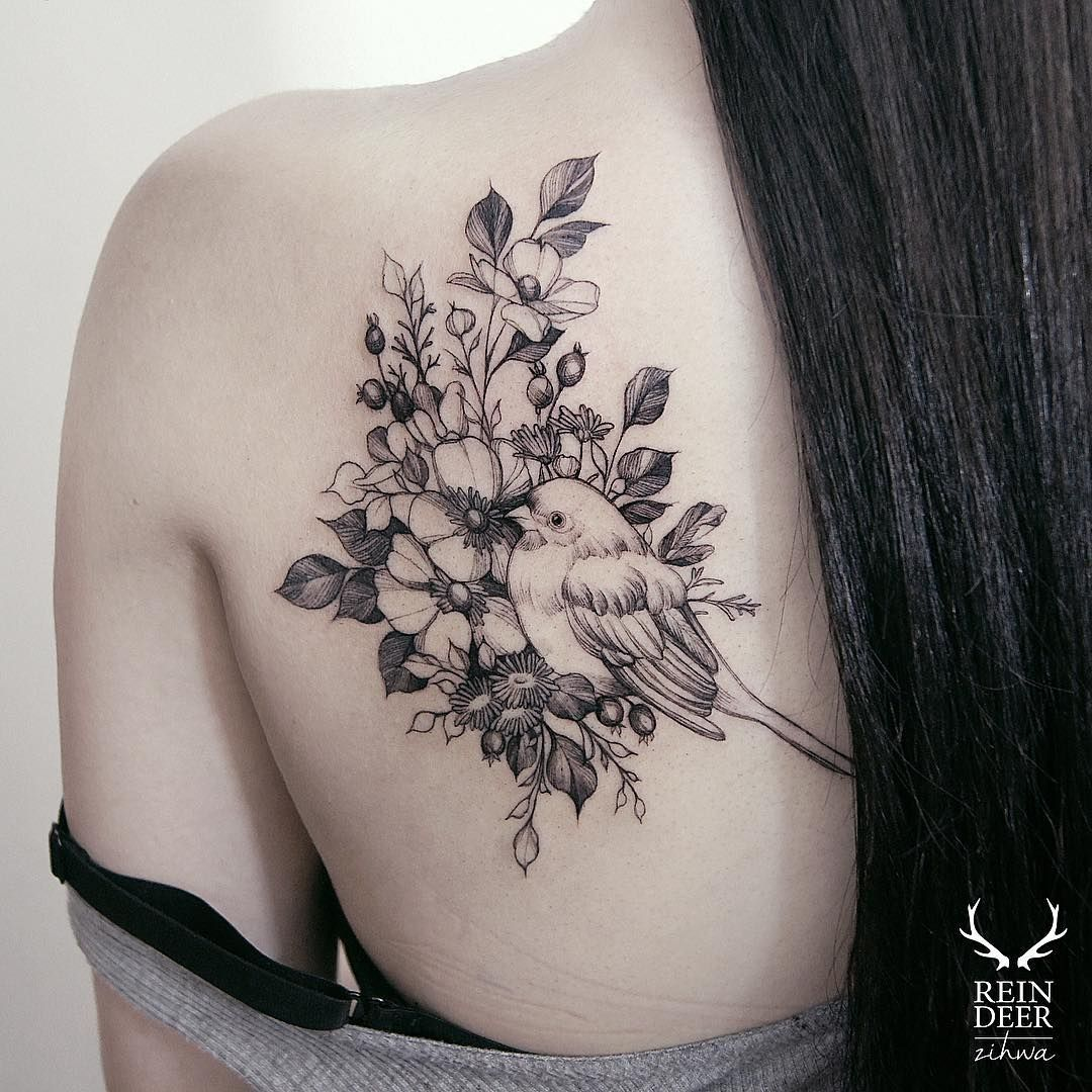 Bird tattoos designs ideas and meaning tattoos for you -  Zihwa_tattooer Feminine Tattoosunique