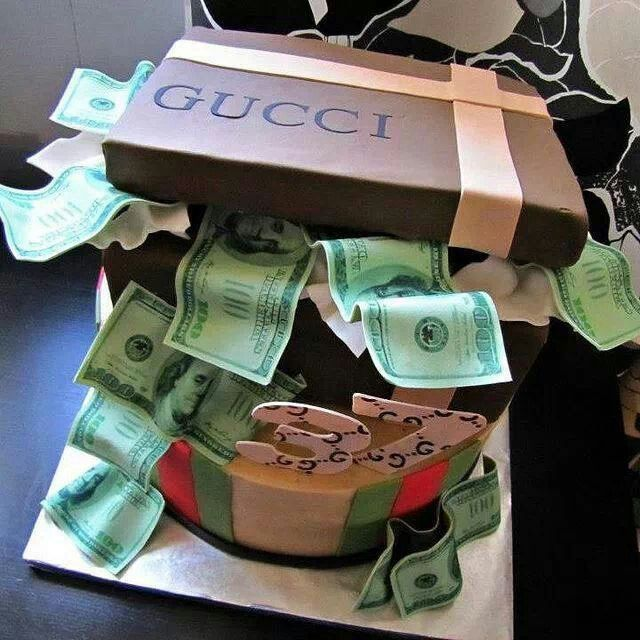 Cute Cake Design Money Birthday