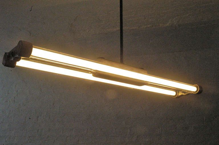 1 of 2 Industrial Fluorescent Tube Lamps | Interior Lighting ...