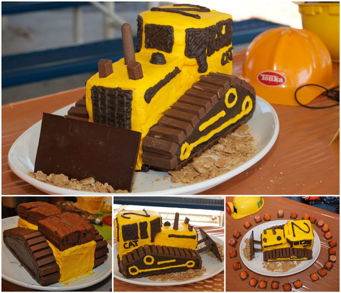 Bulldozer Cake Boys Cakes Pinterest Bulldozer Cake Cake And