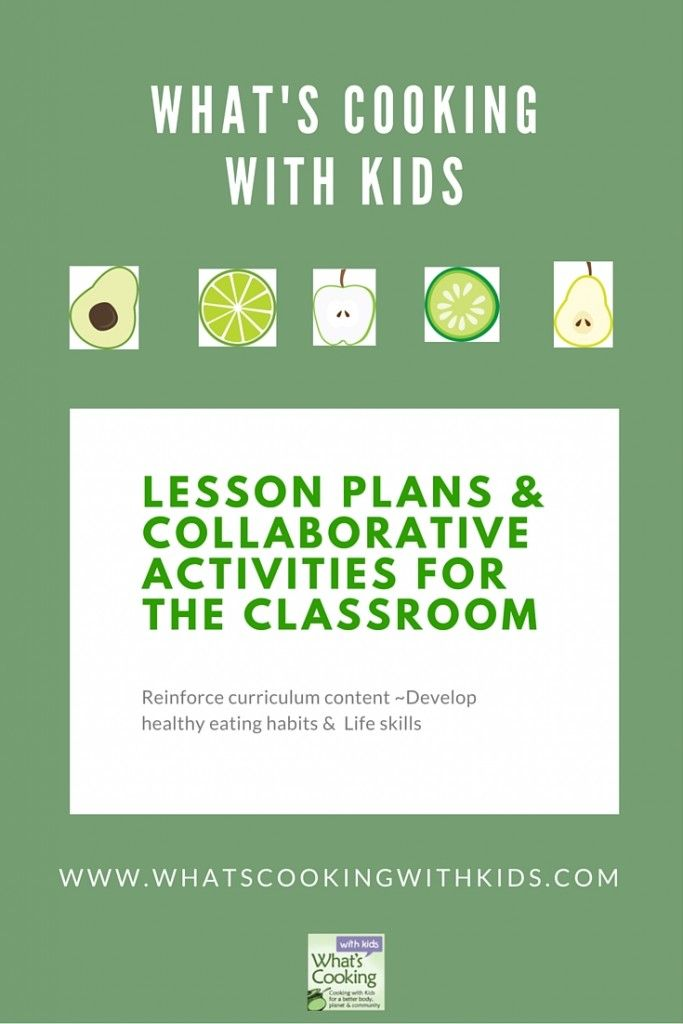 Collaborative Activities For The Classroom ~ Cooking with kids lesson plans and collaborative