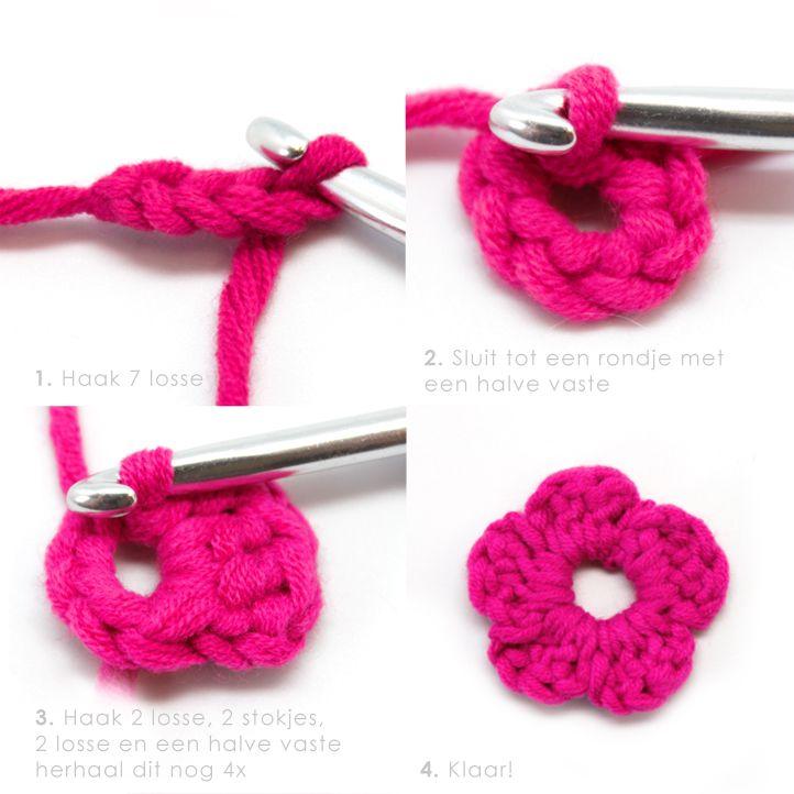 Haak Aan Met Bloemen Haken Crochet Knitting En Crochet Flowers