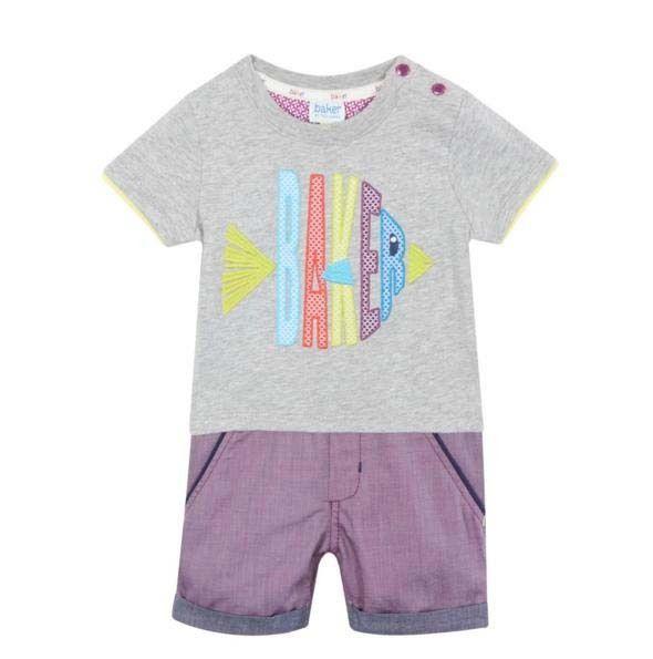 2db4a52d535f24 Ted Baker Baby Boys Romper Bodysuit All in One Designer Newborn Gift ...