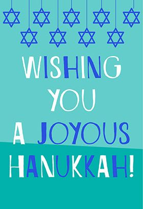 picture about Free Printable Hanukkah Cards known as A Joyous Hanukkah - Hanukkah Card (Free of charge Hanukkah Playing cards