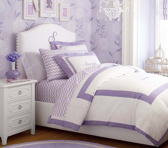 Playfully purple Girls Bedroom Pottery Barn Kids Girls Bedroom