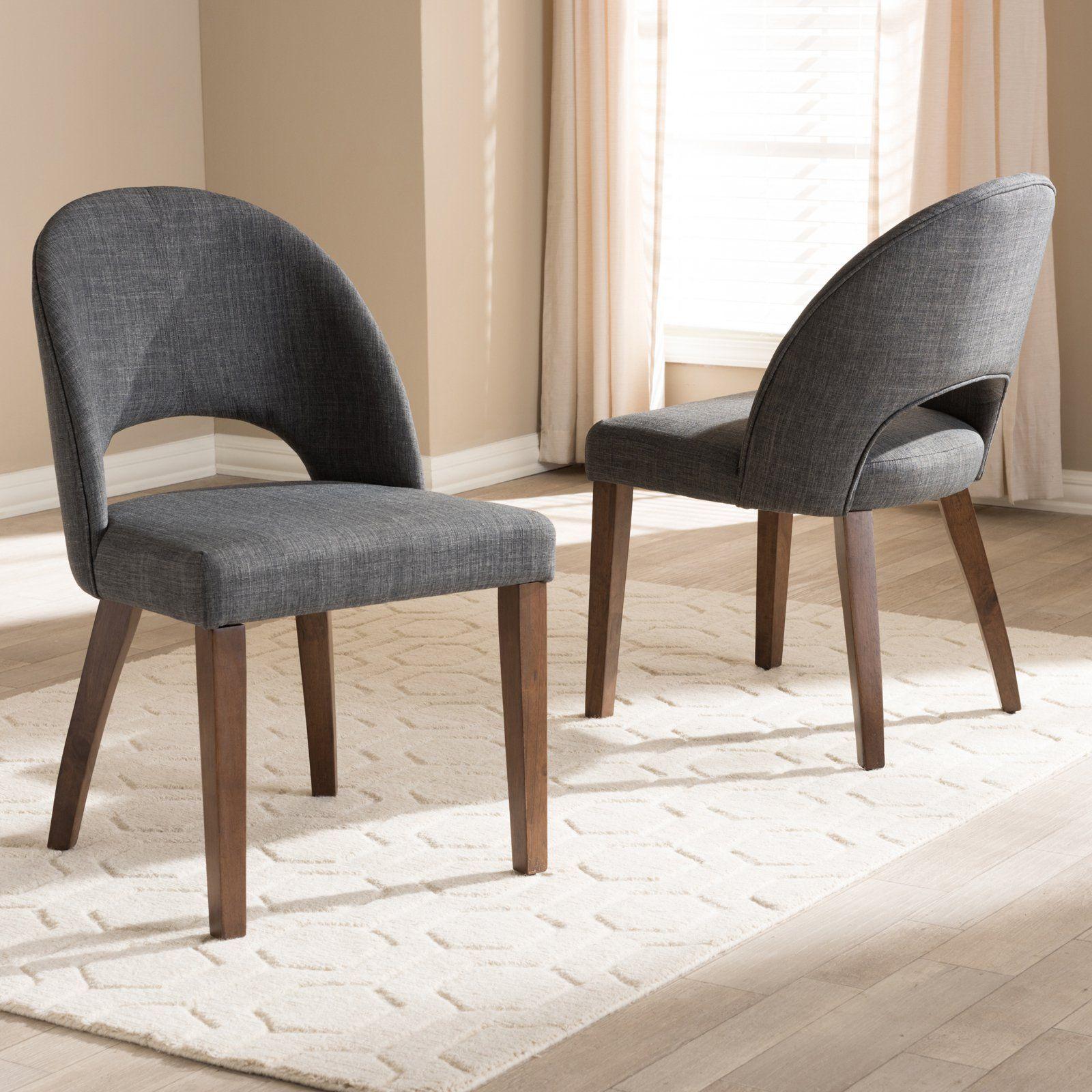 Baxton Studio Wesley Mid Century Modern Fabric Upholstered Wood