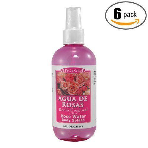 6pk - Rose Water Body Splash - Agua de Rosas De La Cruz https://www.amazon.com/dp/B00371PLDK/ref=cm_sw_r_pi_awdb_x_sTrFybQZNQ8F9