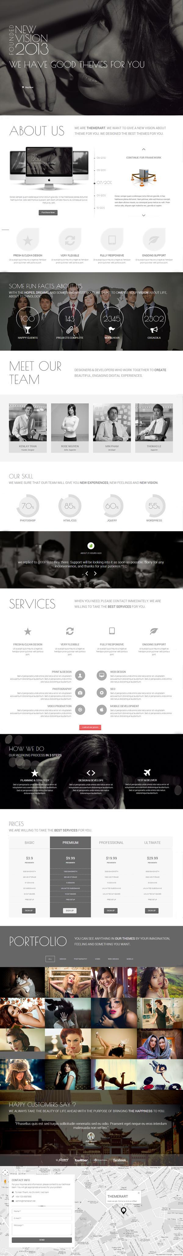 Newvision Responsive Parallax One Page Template