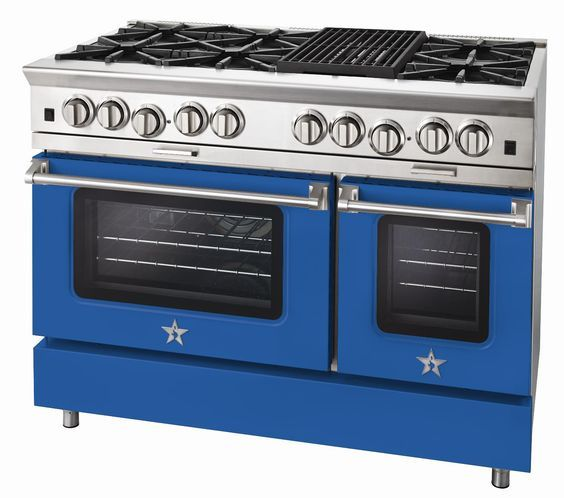 Ral 5017 Verkehrsblau Powder Coated Blue Star Range Kitchen Kitchen Appliances House Interior