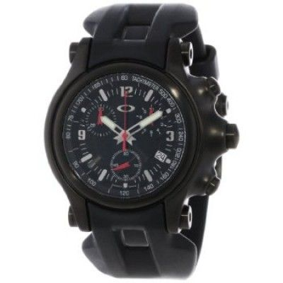 e9143f97350 Relógio Oakley Men s 10-228 Holeshot Stealth Unobtainium Limited Edition  Chronograph Rubber Watch  relogio  oakley