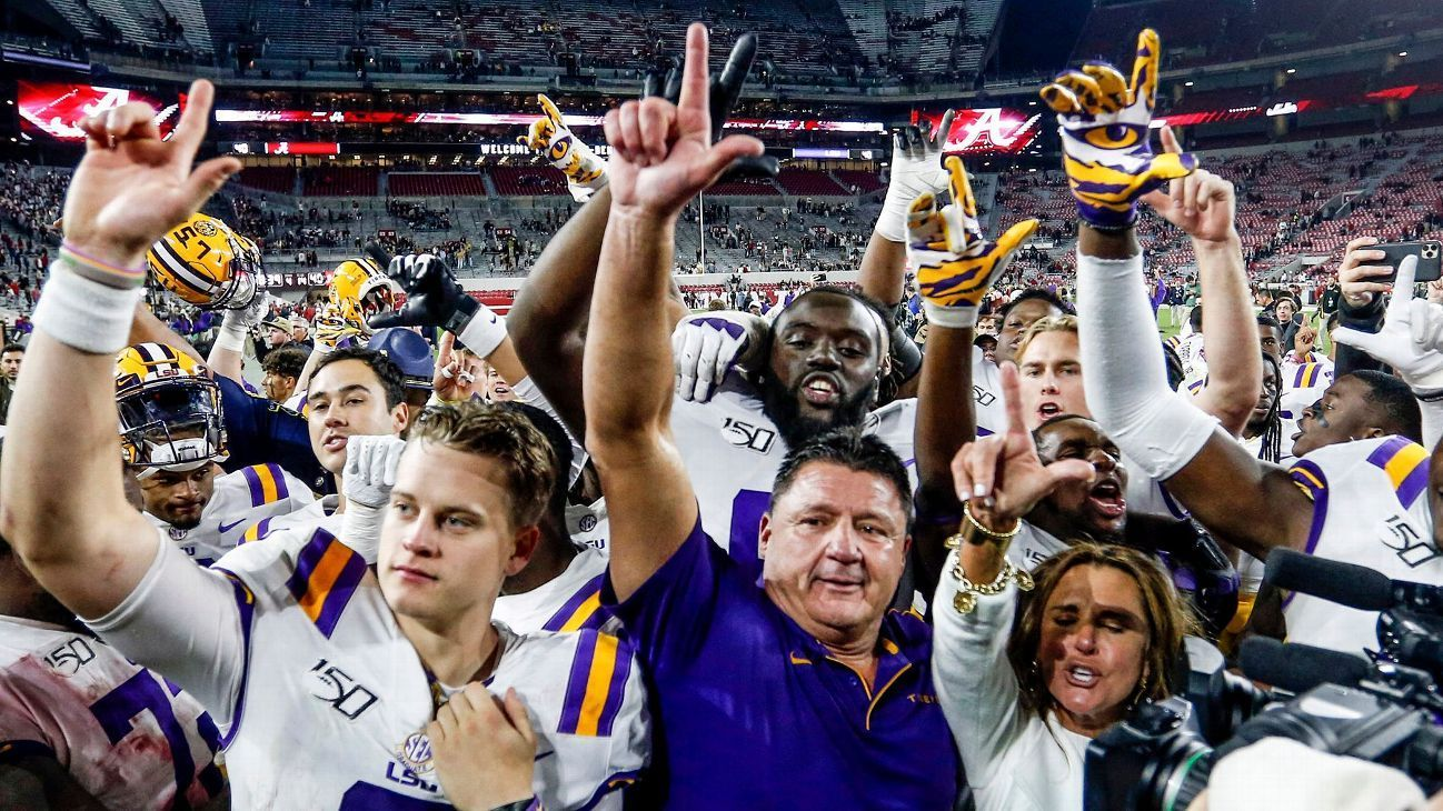 LSU atop CFP; beats out Bama for No. 4 Lsu