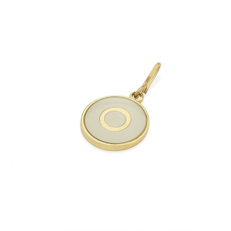 Initial Alphabet Letter O Two Tone Chain Station Charm
