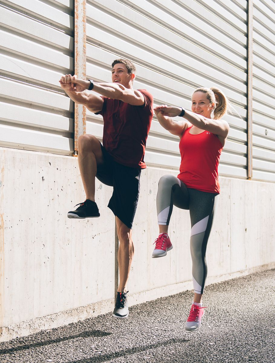Fitcouple Mary and Julius with Under Armour Workout