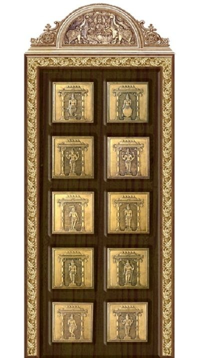 Image Result For Mantras On Pooja Room Door: Pooja Door Accessories Its All About Gajalakshmi And