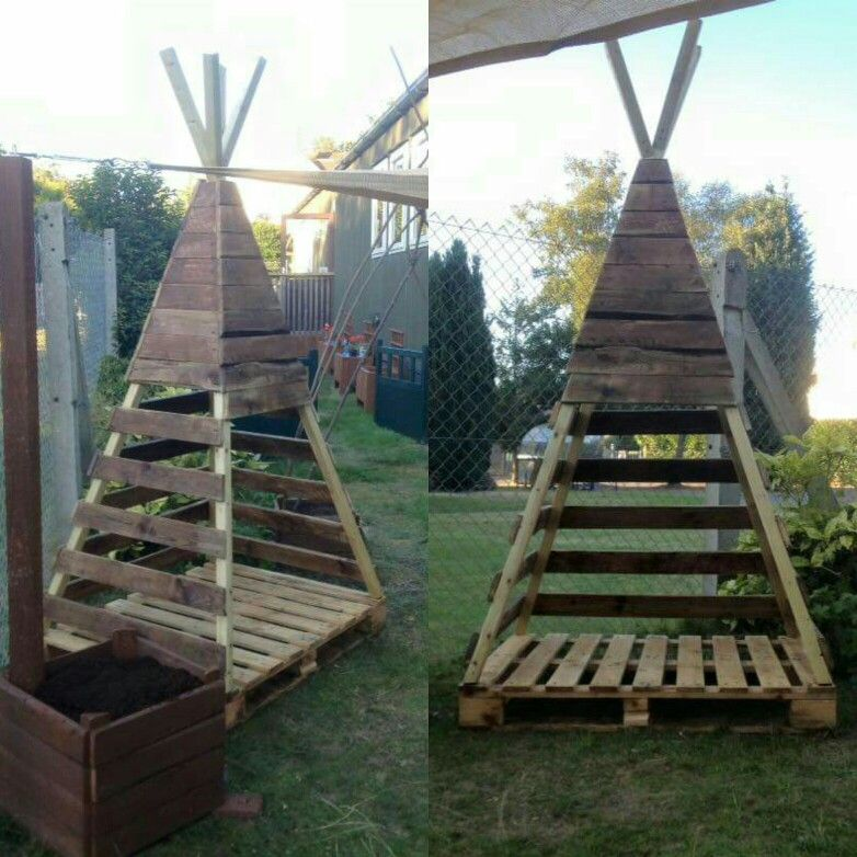 pallet teepee beautiful baby pinterest pallets. Black Bedroom Furniture Sets. Home Design Ideas