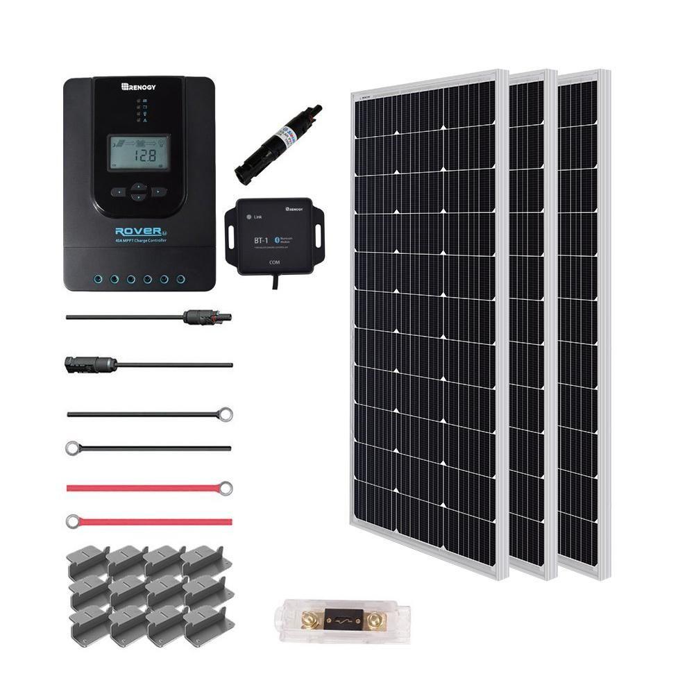 Renogy 300 Watt 12 Volt Off Grid Solar Premium Kit Off Grid Solar Best Solar Panels Solar Panels