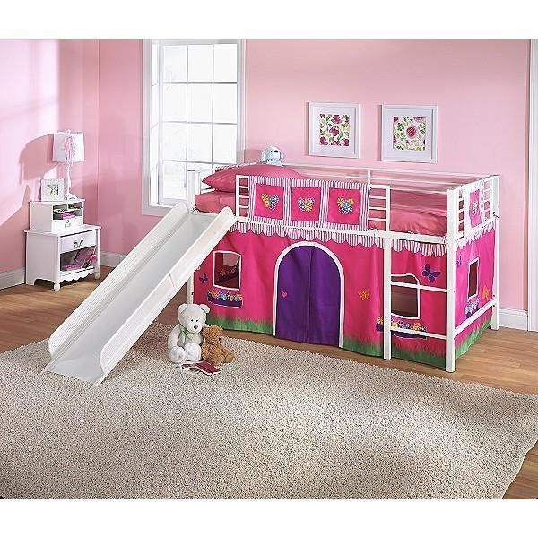 buy online 0a1d8 1a604 New Girl Bed Slide Fairytale Disney Pink Twin Loft Flower ...