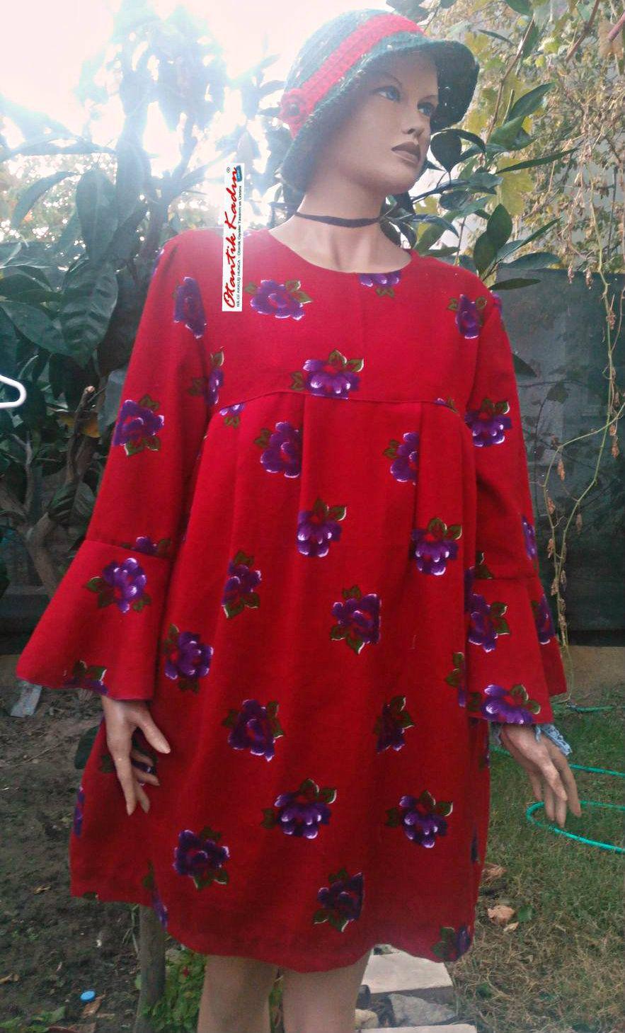 Volan Kol Kirmizi Pazen Elbise 031117 Jpg 883 1 459 Piksel The Dress Elbiseler Elbise