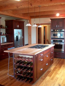 Custom Kitchen Island And Cabinetry Custom Kitchen Island Built In Wine Rack Kitchen Island Decor