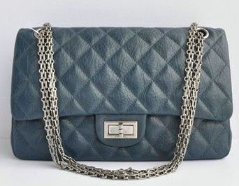 Silver Chain Handbags Category 2 55 Reissue Color Blue Elephant Pattern Material