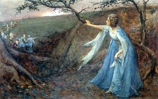 Henry Meynell Rheam (1859-1920) - Titania welcoming her fairy bretheren.