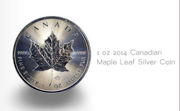 1 oz 2014 Canadian Maple Leaf Silver Coin #silvercoin #silver #onlinemagazine #magazine #coin #royalcanadianmint #rcm