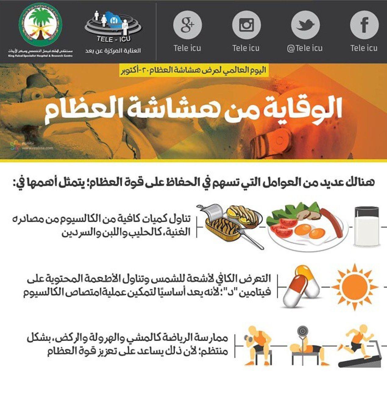 الوقاية من هشاشة العظام Health Diet Health Education Natural Medicine