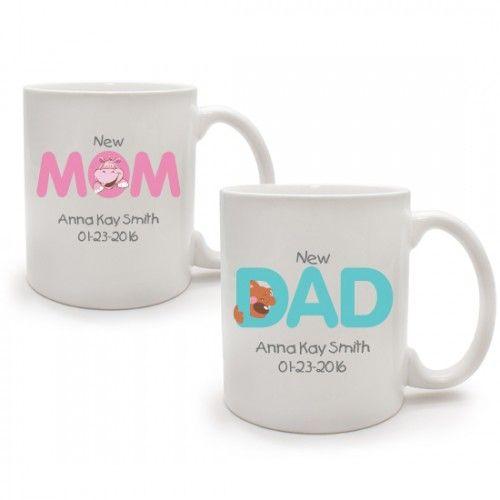 New Mom Mug White Ceramic Coffee Mug.