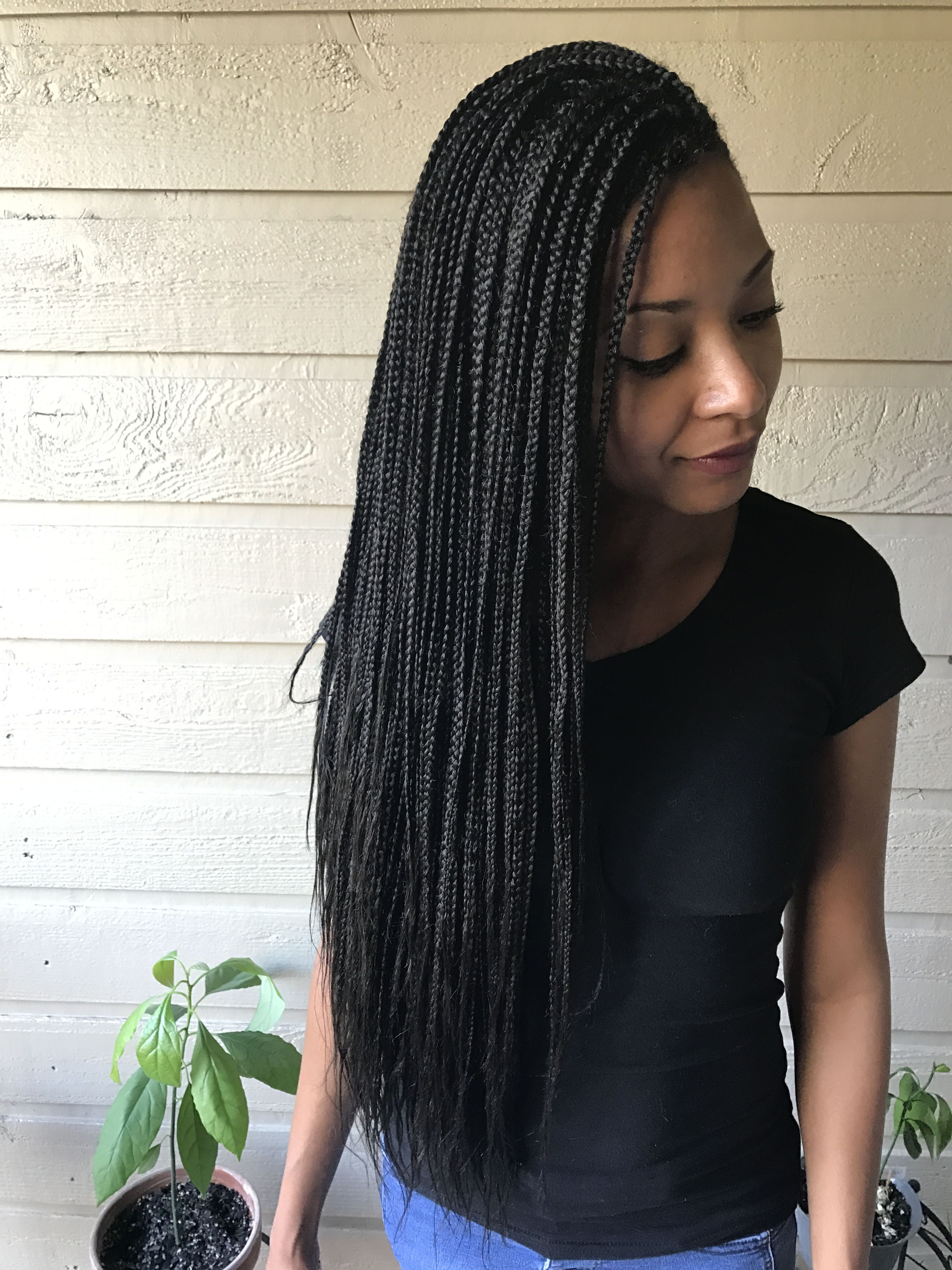 Small Waist Length Box Braids Follow On Ig