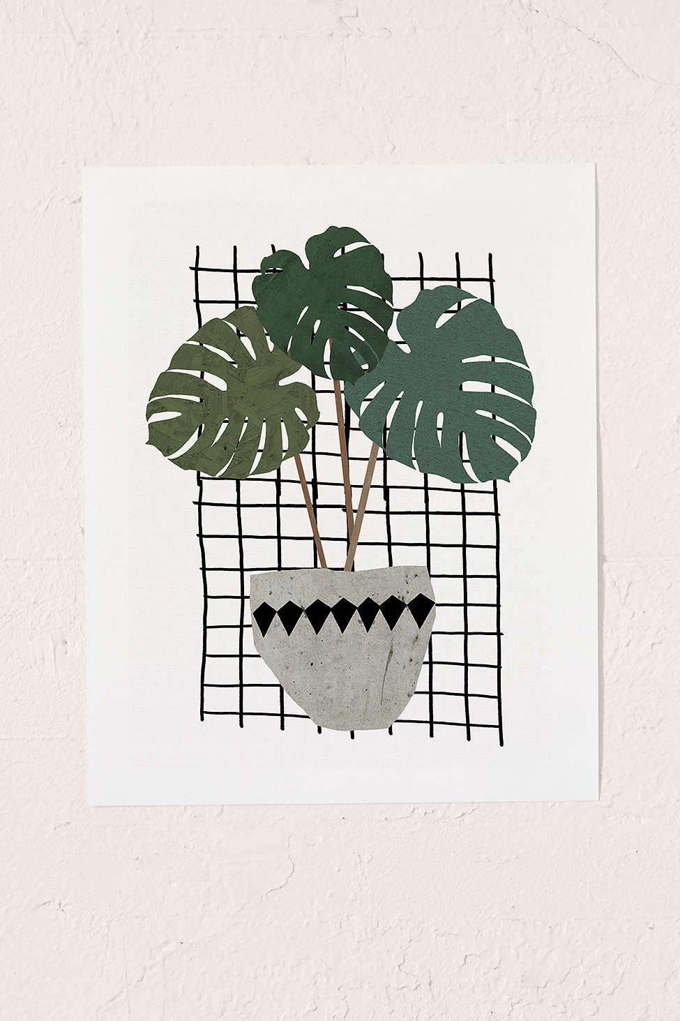 Seventy Tree Monstera Art Print