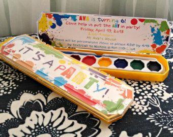 Printable Rainbow Birthday Invitations ~ Art party invitation it s a party printable rainbow