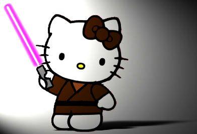 T SHIRT HELLO KITTY DARTH VADER PINK STAR WARS EMPIRE JEDI FORCE SITH CUTE