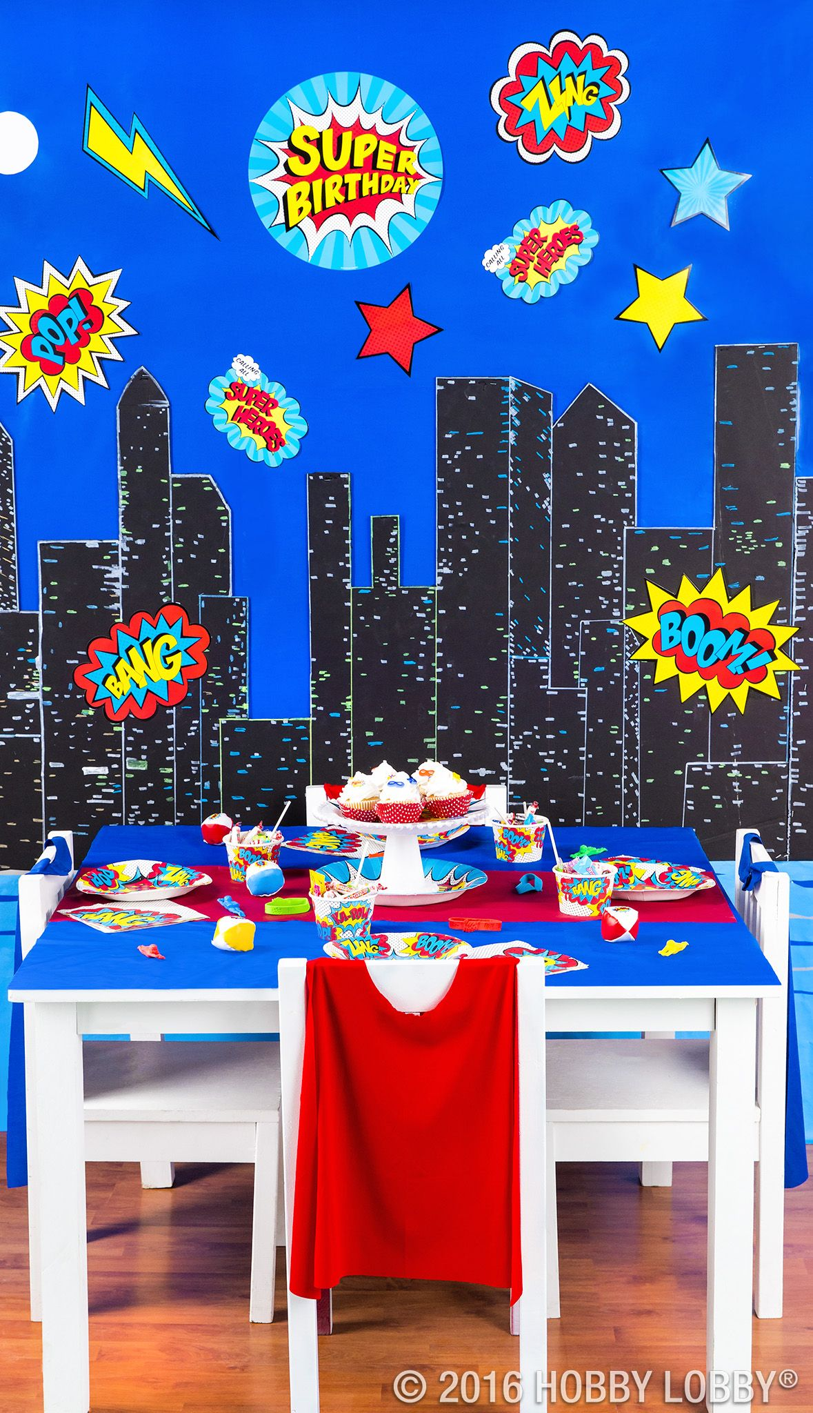 Boom Pow Save The World With Your Superhero Themed Party Decor Superhero Decorations Superhero Theme Party Superhero Birthday Party