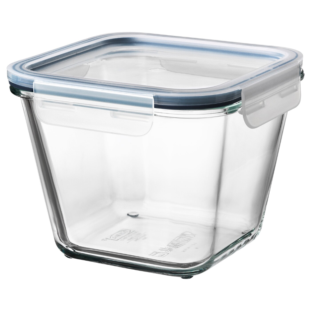 Ikea 365 Food Container With Lid Square Glass Glass Plastic 15 Cm X 15 Cm X 12 Cm Ikea Ireland In 2020 Food Storage Organization Kitchen Storage Containers Plastic Kitchen Storage Containers