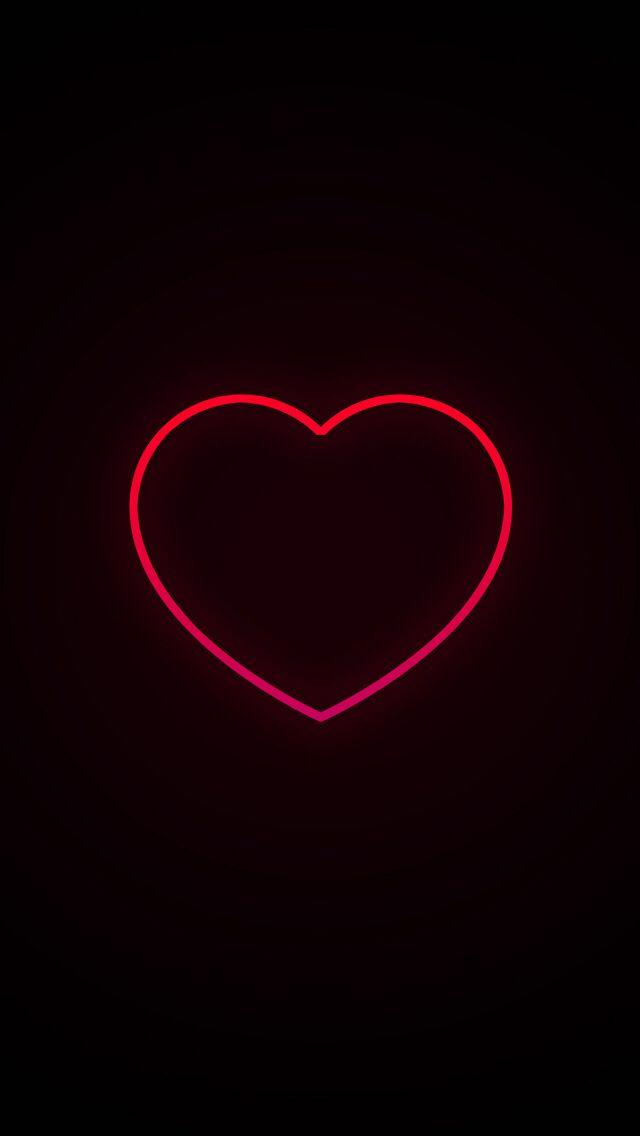 Neon Heart Papeis De Parede Ideias De Papel De Parede Papel De Parede Preto