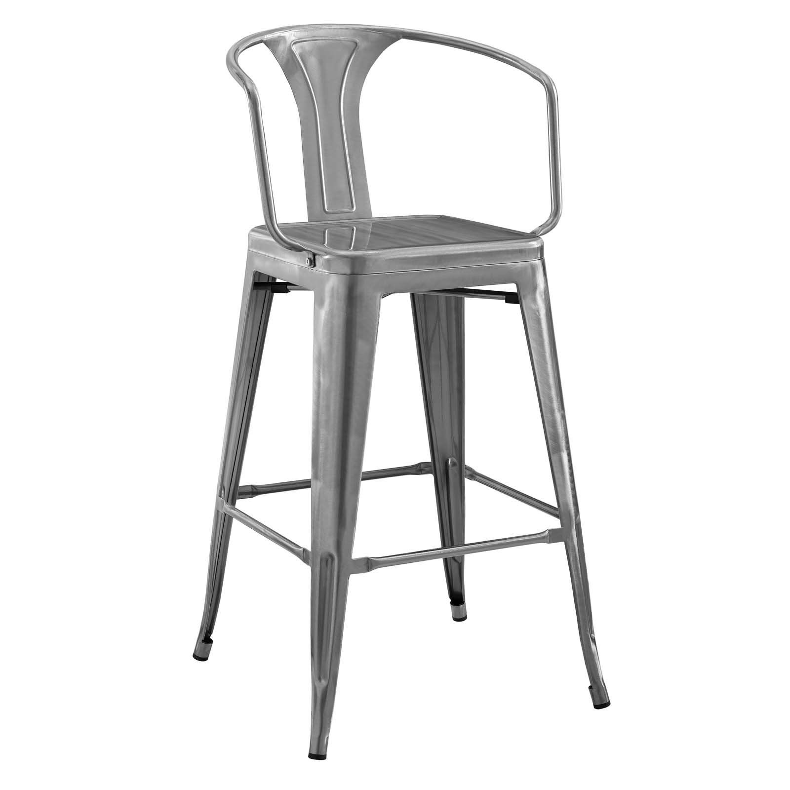 Modway Bar Chairs On Sale Eei 2817 Blk Promenade Cafe And Bistro Style Steel Bar Chair Only Only 117 00 Metal Bar Stools Bar Stools Grey Bar Stools