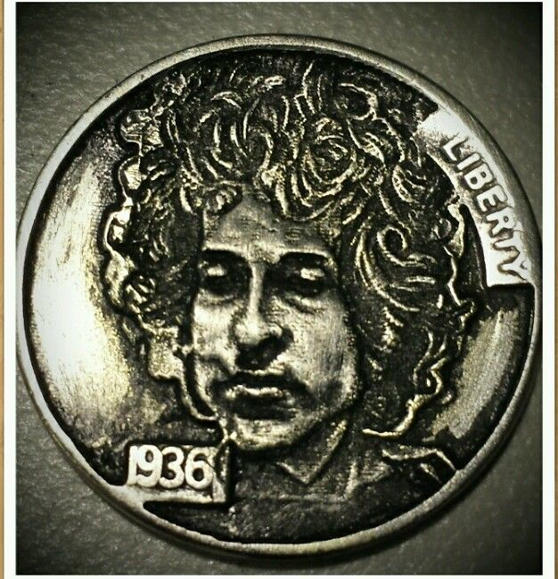 "HOBO NICKEL ""BOB DYLAN"" LIKENESS 1174"