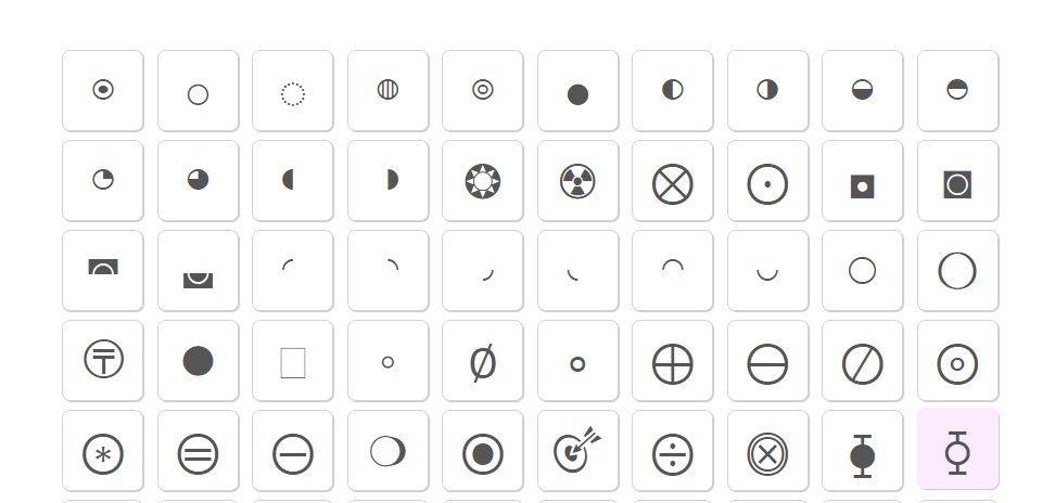 Circle Symbols Circle Symbol Cool Text Symbols Cool Symbols