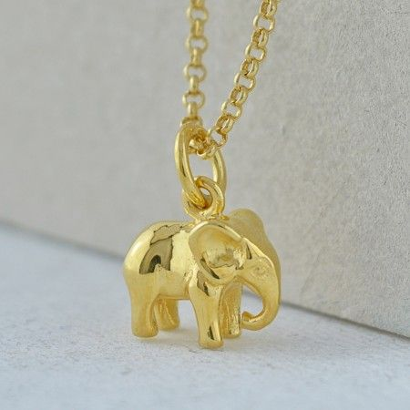 Gold elephant charm necklace by lily charmed jewelry pinterest gold elephant charm necklace by lily charmed aloadofball Choice Image