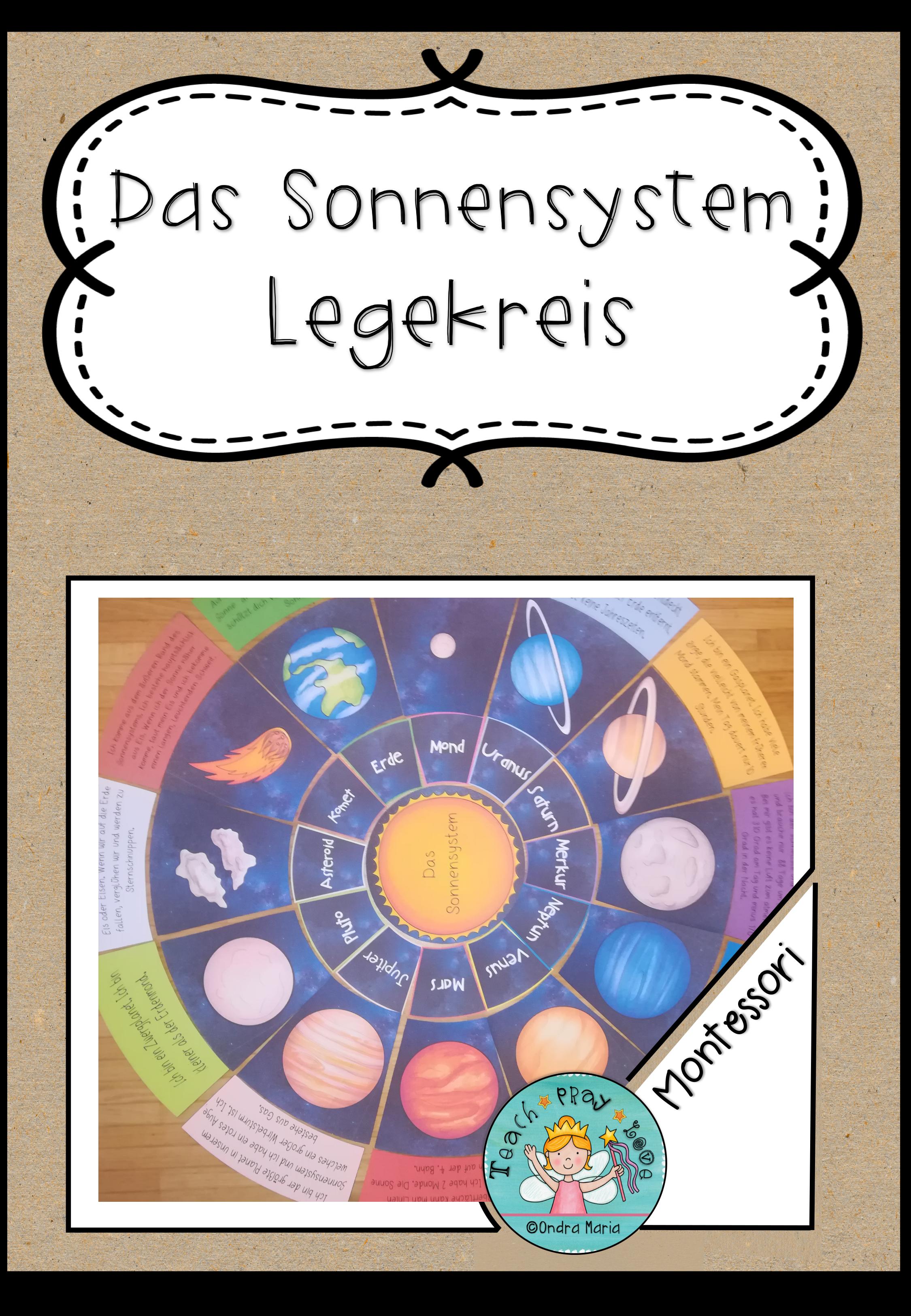 Legekreis Das Sonnensystem Arbeitsblatt