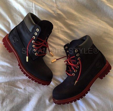 timberland rouge et noir