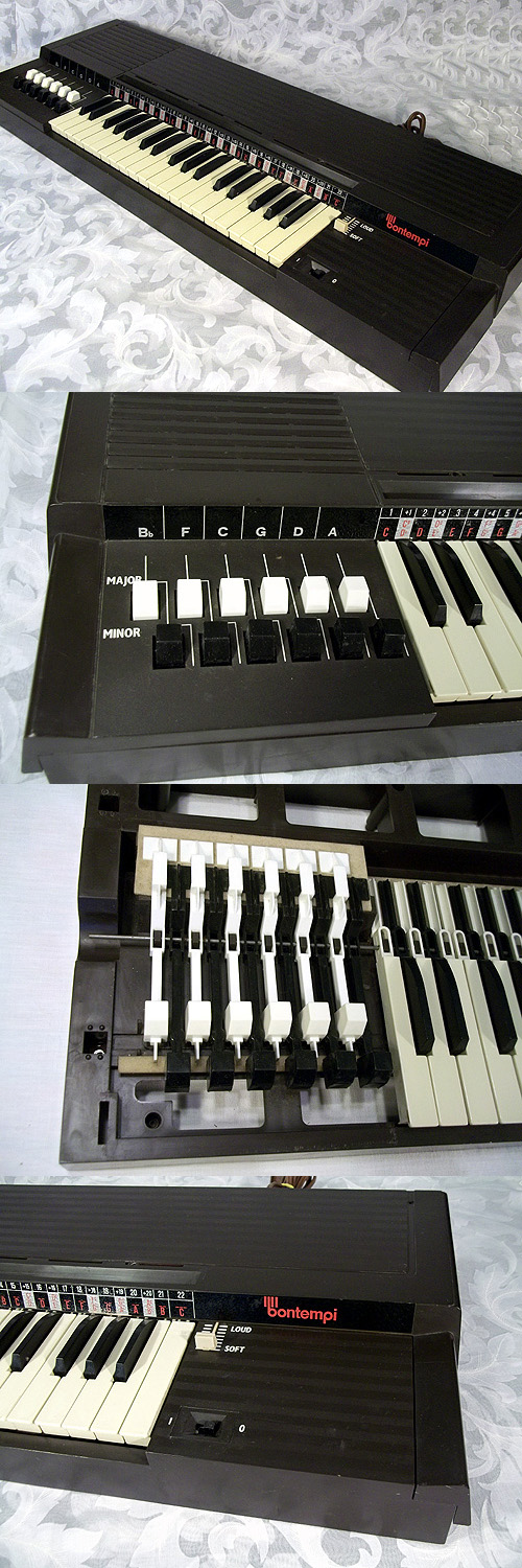 Vintage Bontempi Electric Air Chord Organ Made In Italy Works Great